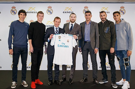 Exness (Forex Sevice) and Real Madrid